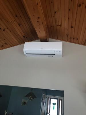 Ductless panel in a new addition in Zionsville, PA