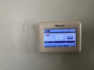 New digital thermostat for better heating and cooling in Harrisburg, PA colonial home