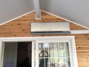 Ductless HVAC panel installation in Carlisle PA