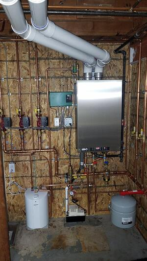 Wall-hung boiler installation in Lancaster PA