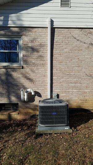 Outdoor condenser for ductless panel system in Lancaster PA