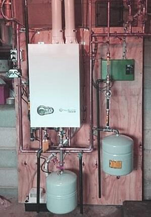 A new high-efficiency boiler takes up less space and costs less to run in Easton, PA