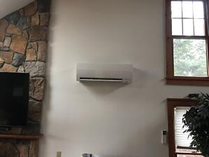 Zoned heating improves climate control and reduces energy bills in a Tannersville, PA A-frame home