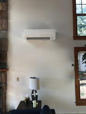Ductless panels eliminate hot spots in an A-frame home in the Poconos.